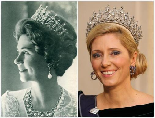 queen frederika & crown princess marie chantal in queen sophia's tiara