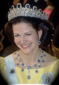 Queen Silvia in the Leuchtenberg Sapphires