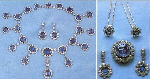 closeup of earrings, necklace and hair pins...yes! HAIR PINS