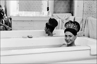 Princess Margaret sports the Poltimore tiara in the bath