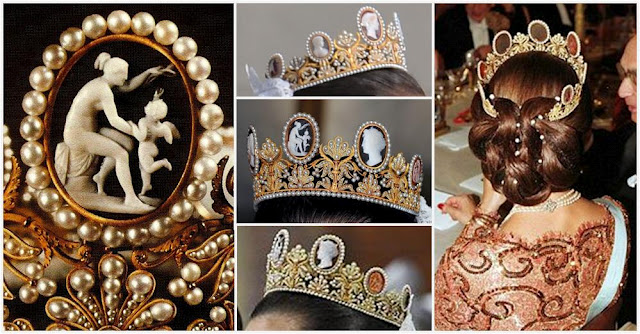 details the Cameo Tiara worn by Crown Princess Victoria for her wedding