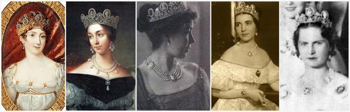 the Cameo tiara has graced many royal noggins over the centuries.