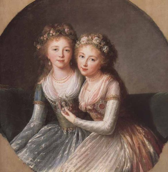 Grand Duchess Alexandra and Elena Pavlovna painted by Elisabeth Vigée LeBrun