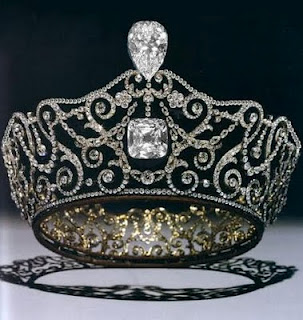 Delhi Durbar Tiara with the famous Cullinan III & IV diamonds
