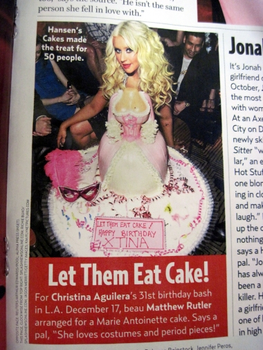 3D Marie Antoinette Cake