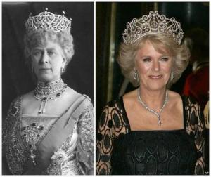Queen Mary and Camilla, both in the Delhi Dubar Tiara