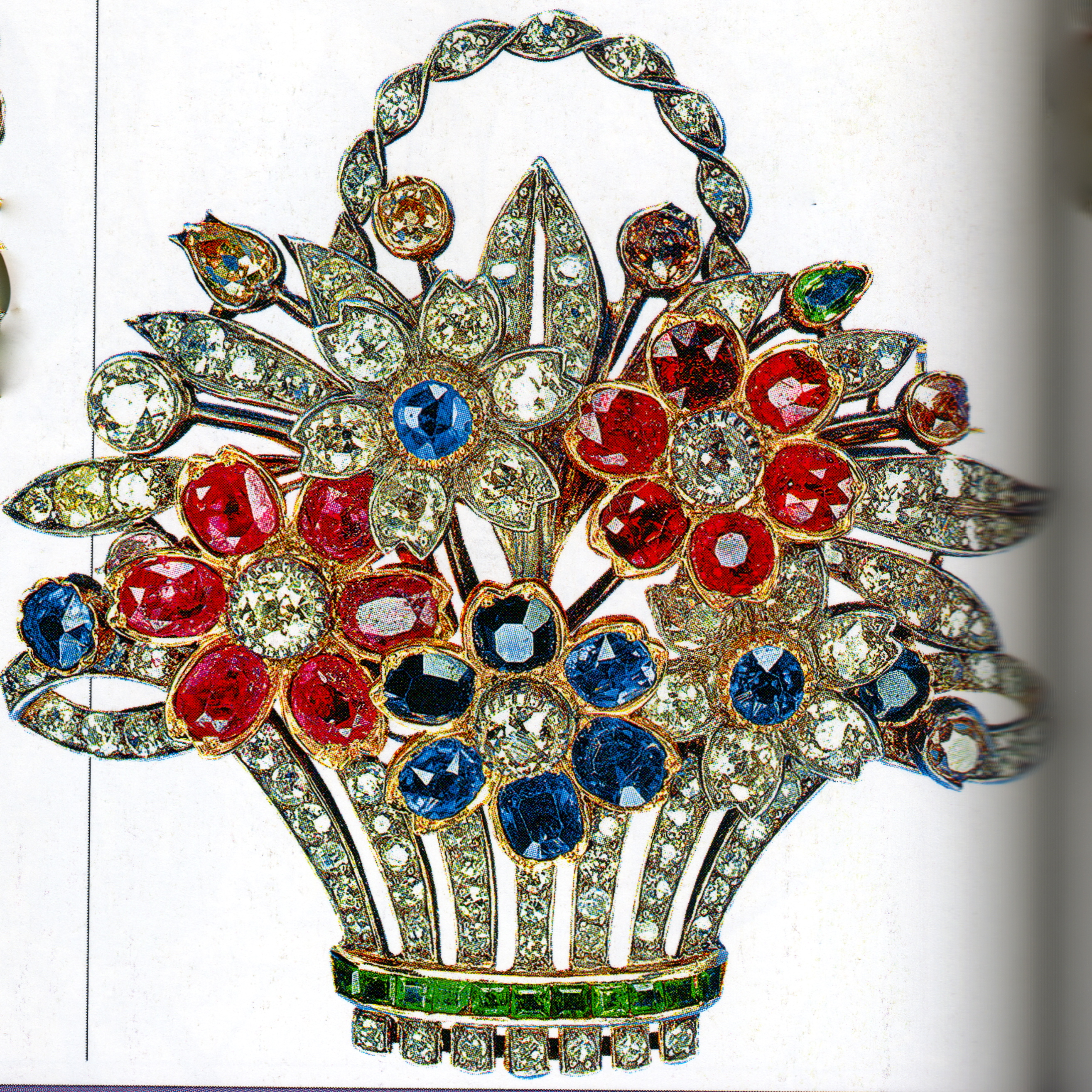 item brooch jewel dealhuntress tone cabochon treasure lane shield jewels of india ciner rhinestone ruby the vtg chest