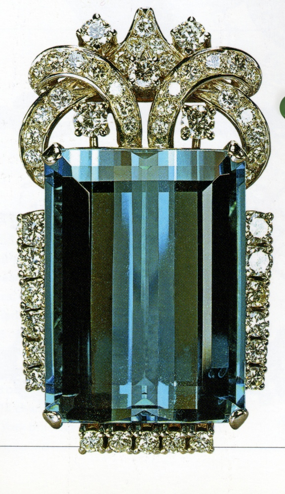 Attack of the Brooches! Brazilian Aquamarine Brooch (and Bracelet) (1/6)