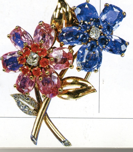 Flower Spray Brooch, Cartier 1945