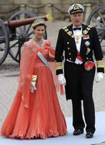 Sonja of Norway at the Swedish Royal Wedding