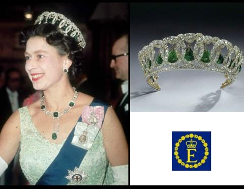 Elizabeth II in GD Vladimir Emarald tiara