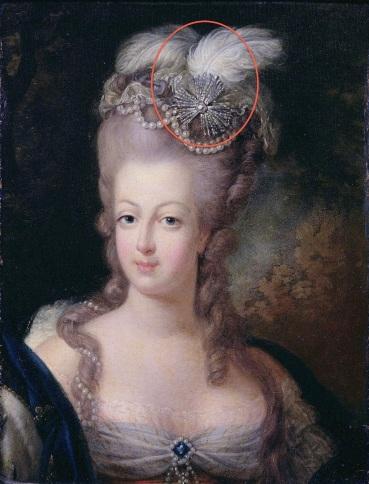 Marie Antoinette 1775 aigrette