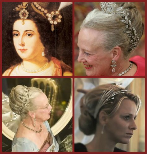 aigrette, catherine the great, queen margarethe ii of denmark, Princess Charlene of Monaco