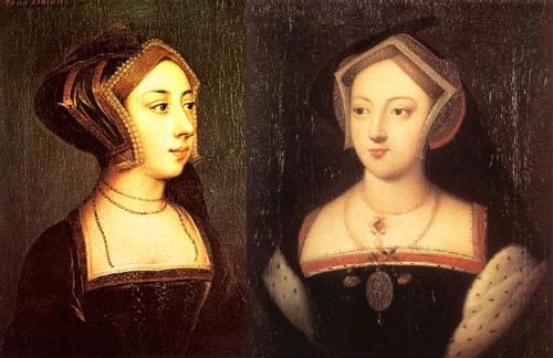 anne and mary boleyn, by Hans Holbein the Younger