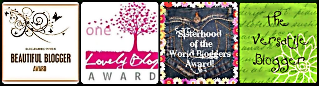 beautiful blogger award, one lovely blog award, the sisterhood of bloggers award, the versatile blogger,