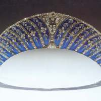 the Westminster Tiara collection: the Chamuet Kokoshnik with Blue Enamel