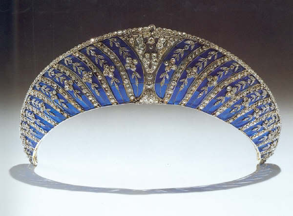 westminster tiara collection: blue enamel kokoshnik