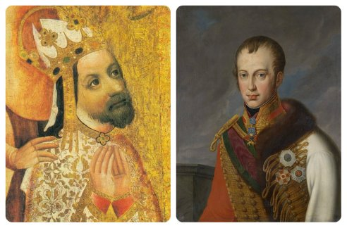 Kings of Bohemia: Charles IV (1347) and Ferdinand V (1836)