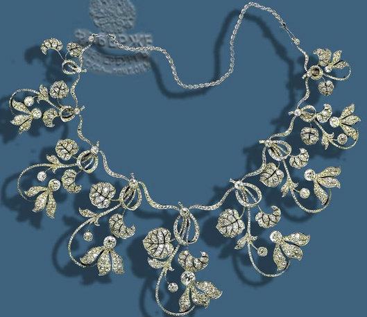 fabregé cyclamen as a necklace