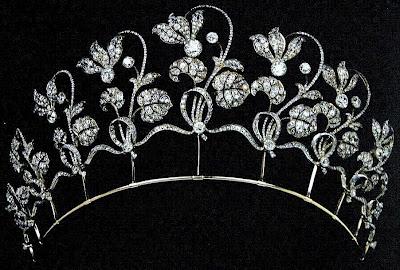 Gold and Diamond Fabergé Cyclamen Tiara ca 1903