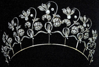Gold and Diamond Fabergé Cyclamen Tiara ca 1903
