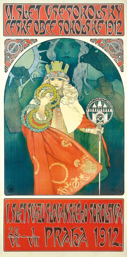 Art Nouveau Advertizing Poster by Alfons Mucha