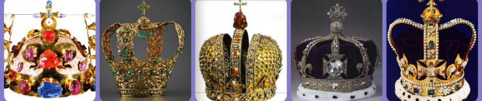 st wencelas, royal house of bohemia; crown of the Andes; Tsarina Anna's Crown, Queen Alexandra's, St. Edward's Crown