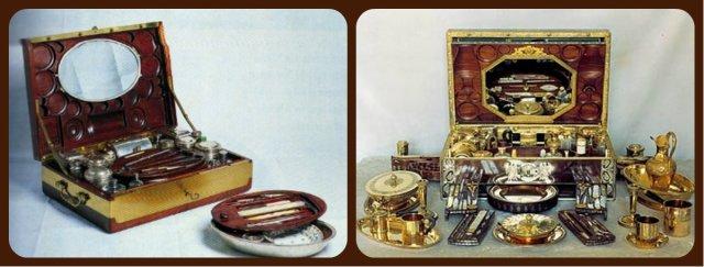 les nécessaires de Marie Antoinette et Empress Joséphine