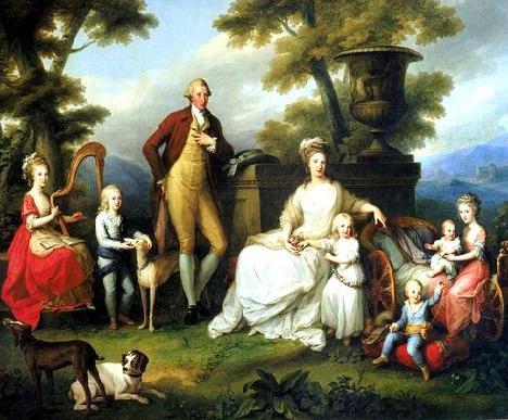 Maria Carolina, Queen of Naples, and family