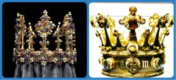 the only two surviving medieval crowns