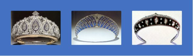 princess marie louise pearl diamond sapphire, westminster blue enamel and Faberge blackened steel