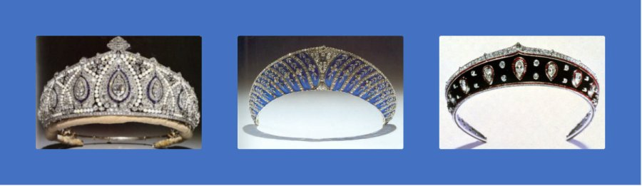 princess marie louise pearl diamond sapphire, westminster blue enamel and Faberge blackened steel