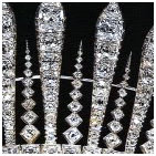 Princess Mary's fringe tiara close up