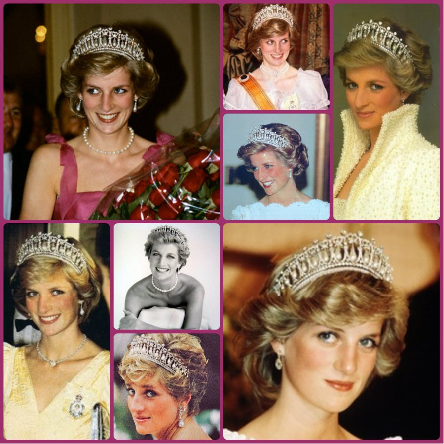 Diana, Princess of Wales in Cambridge Lover's Knot Tiara