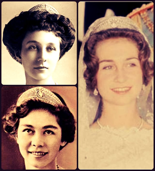 prussian diamond tiara princess victoria louise, queen frederika, queen sofia