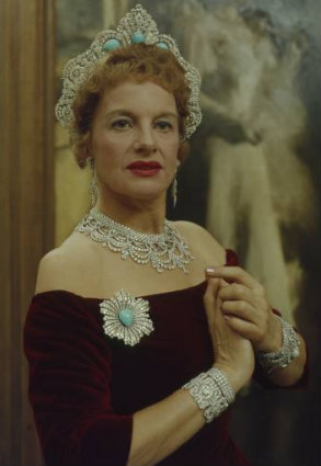 rose palmer the westminster halo tiara with turquoise