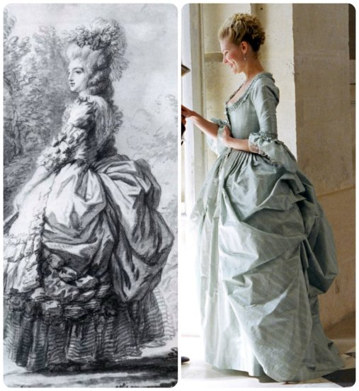 the dress bustle inspired by 19th century sketch?