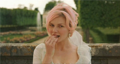 marie antoinette movie pink hair garden party