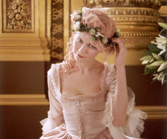 film kirsten dunst adjusts her chaplet of roses marie antoinette movie