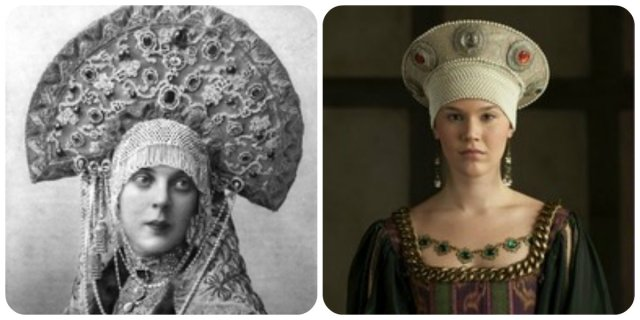 "Grand Duchess Xenia and Joss Stone: Kokoshniks in ""the Tudors""?"