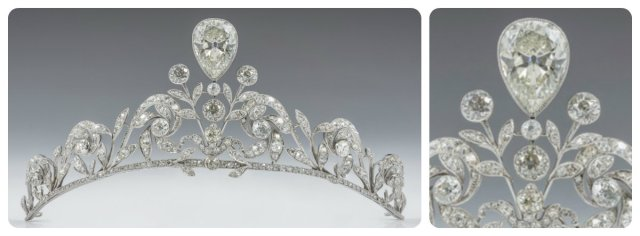 Lannoy tiara worn by Comtesse Stéphanie at her Wedding