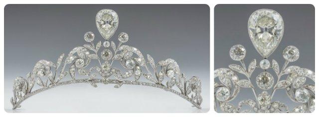 Lannoy tiara worn by Comtesse Stéphanie at her Wedding