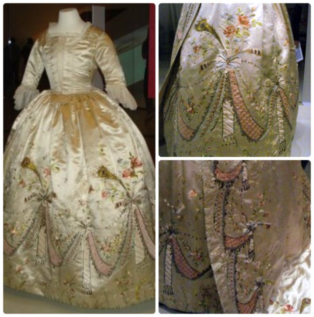 Marie Antoinette's Court Dress at the Royal Ontario Museum, designed by Rose Bertin