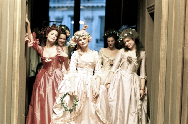 2006 Film Marie Antoinette and ladies wear Chemises and Chaplets of Flowers