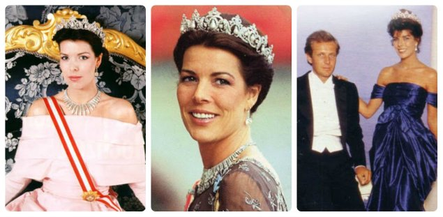princess caroline of monaco in the cartier pearl drop tiara