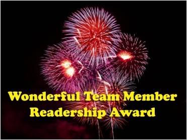 "the ""Wonderful Team Member Readership Award"""