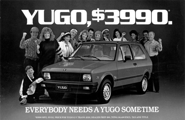yugo ad $3990