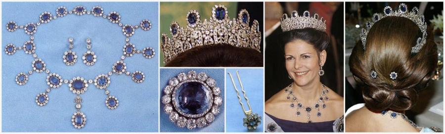 Queen Silvia of Sweden Leuchtenberg Sapphire Parure