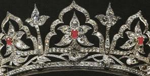 oriental circlet tiara detail
