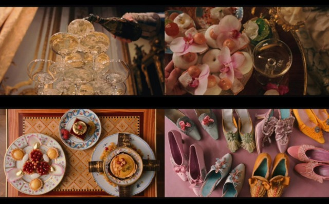 the pastries had a direct effect on everything else in the film Marie Antoinette